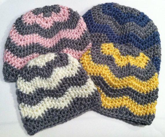 Free Crochet Zig Zag Hat Pattern : 25+ best ideas about Zig zag crochet on Pinterest Zig ...