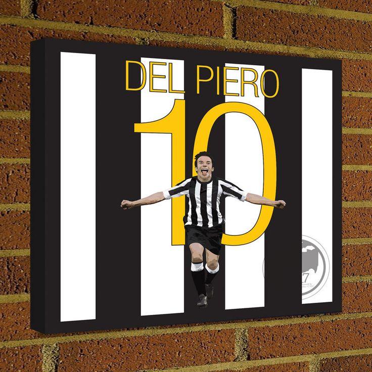Juventus Alessandro Del Piero Square Canvas Wrap Art Print -  Juventus Soccer Poster wall decor home decor, Del Piero print, Italy poster by Graphics17 on Etsy
