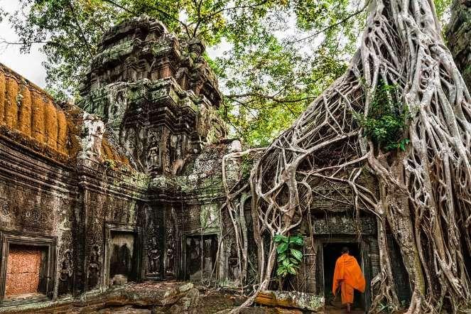 При строительстве Ангкор-Вата древние кхмеры использовали от 5 до 10 млн каменных плит, некоторые из... - Shutterstock.com