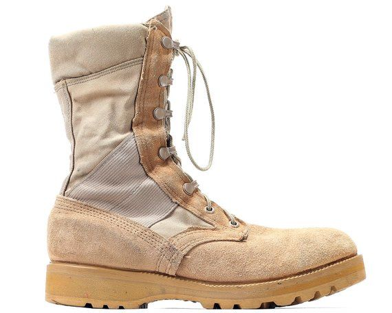 b29fe19cd59 US women 6.5 Desert Storm Combat Boots Military USA Army Beige Suede ...