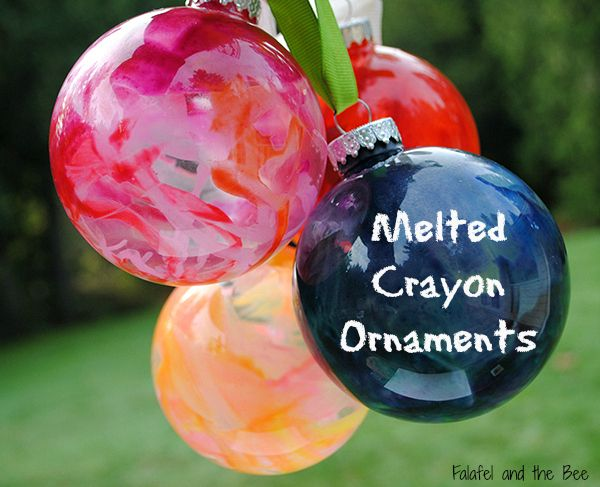 DIY - Making Melted Crayon Glass Christmas Ornaments - I am sharing two different methods of making ornament balls that are super easy and beautiful too!