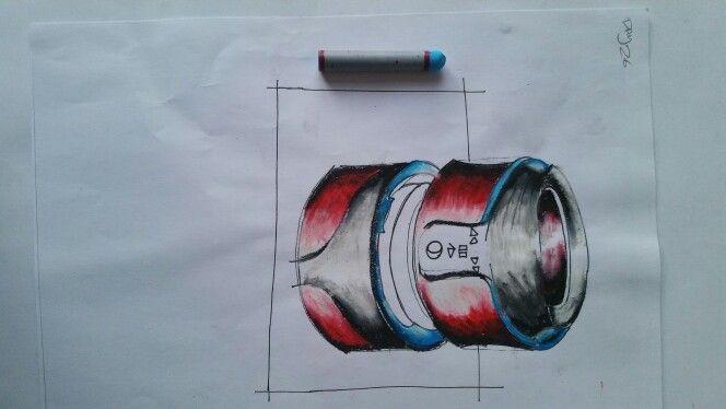 DAY 26: HEADPHONE DESIGN USING OIL PASTELS.