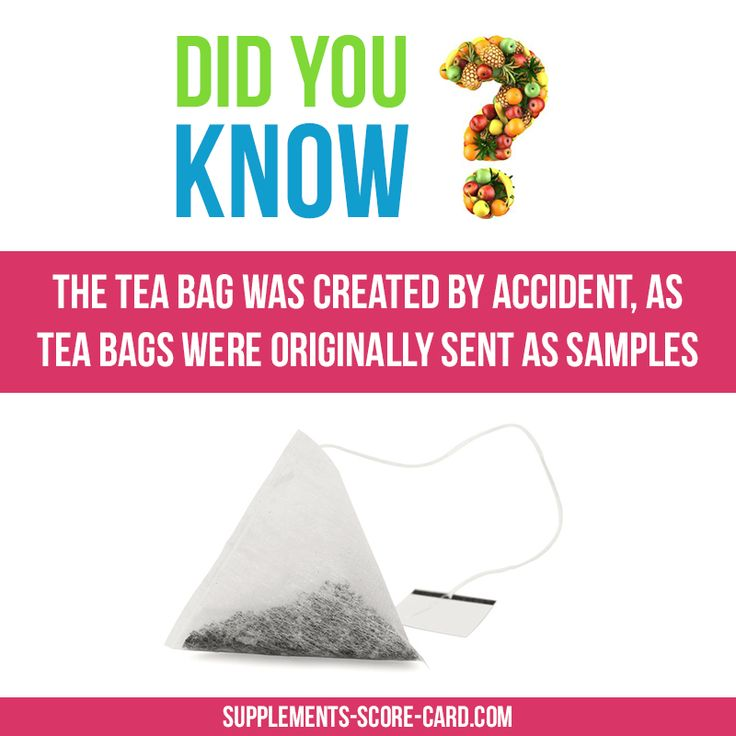 The tea bag was created by accident, as tea bags were originally sent as…
