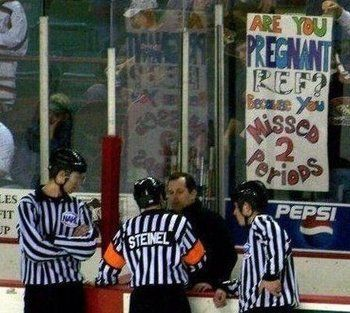Hockey fan signs are the best!hahaha just for you!
