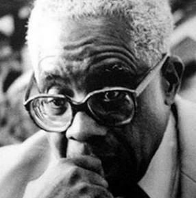 """French poet Aimé Césaire - In addition to poems and plays, is also the author of Discourse on Colonialism (1950), a book of essays which has become a classic text of French political literature and helped establish the literary and ideological movement Negritude, a term Césaire defined as """"the simple recognition of the fact that one is black, the acceptance of this fact and of our destiny as blacks, of our history and culture."""""""