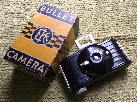Vintage Kodak Bullet Camera with Original Box  Art Deco