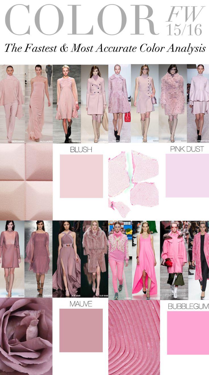 Trend Council: COLOR FW 15/16 - Blush, Pink Dust, Mauve, Bubblegum