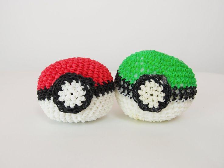 Pokémon Poké Ball Rainbow Loom Bands Amigurumi Loomigurumi Hook Only Tut...