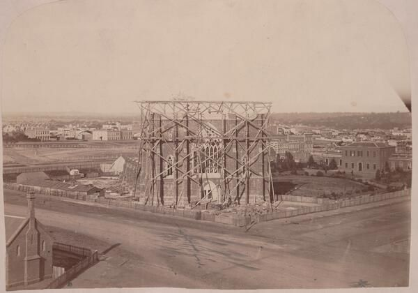 Some Melbourne history on St Patricks day, here is St. Patrick's Cathedral, under construction ca.1862