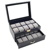 Caddy Bay Collection Black Classic  Watch Storage Box