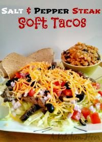 Salt & Pepper Steak Taco Salad will be a hit with your family!