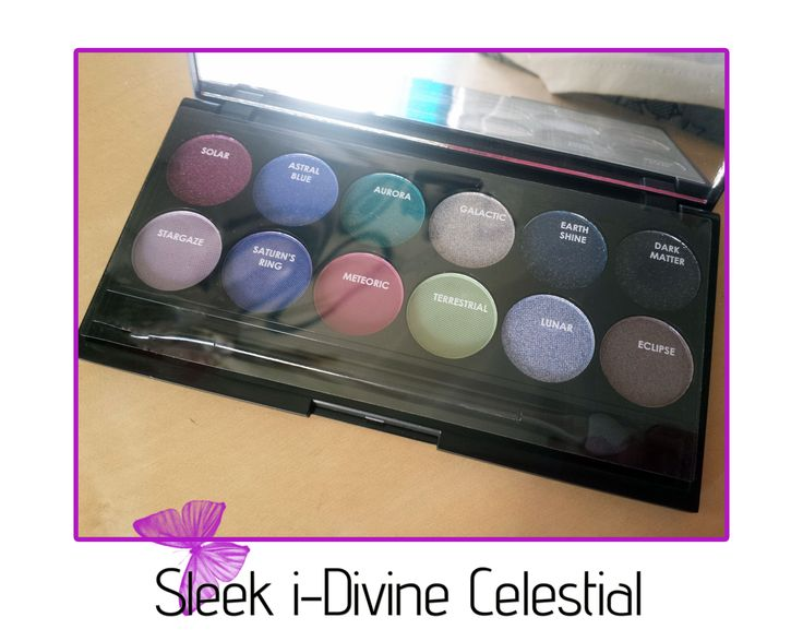 Review on the Sleek i-Divine Celestial eyeshadow palette.