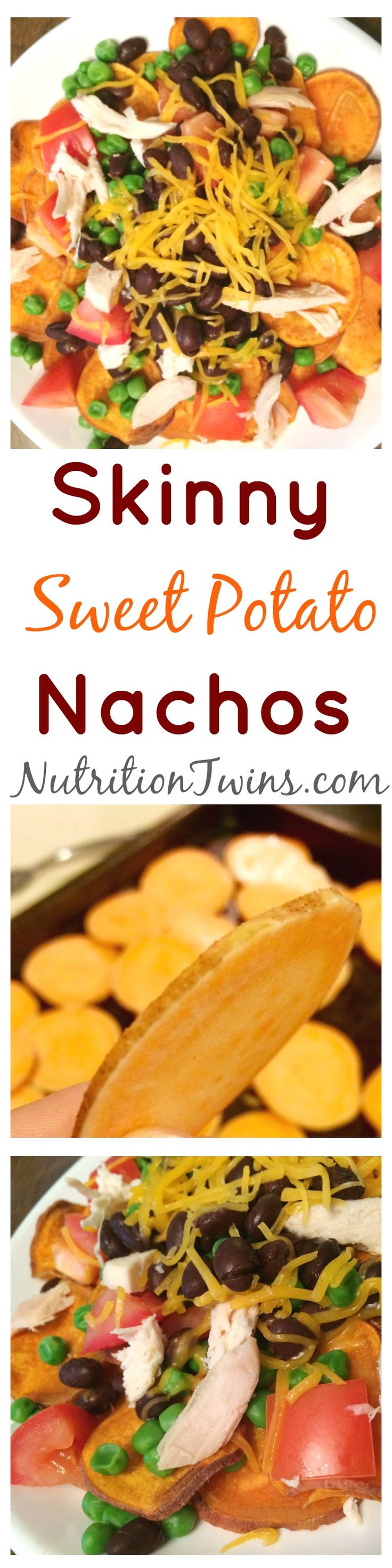 Sweet Potato Nachos | Healthy Entire Meal | Only  328 Calories | Protein Packed & Satisfying | Packed with Fiber | For Nutrition & Fitness Tips, and RECIPES please SIGN UP for our FREE NEWSLETTER www.NutritionTwins.com