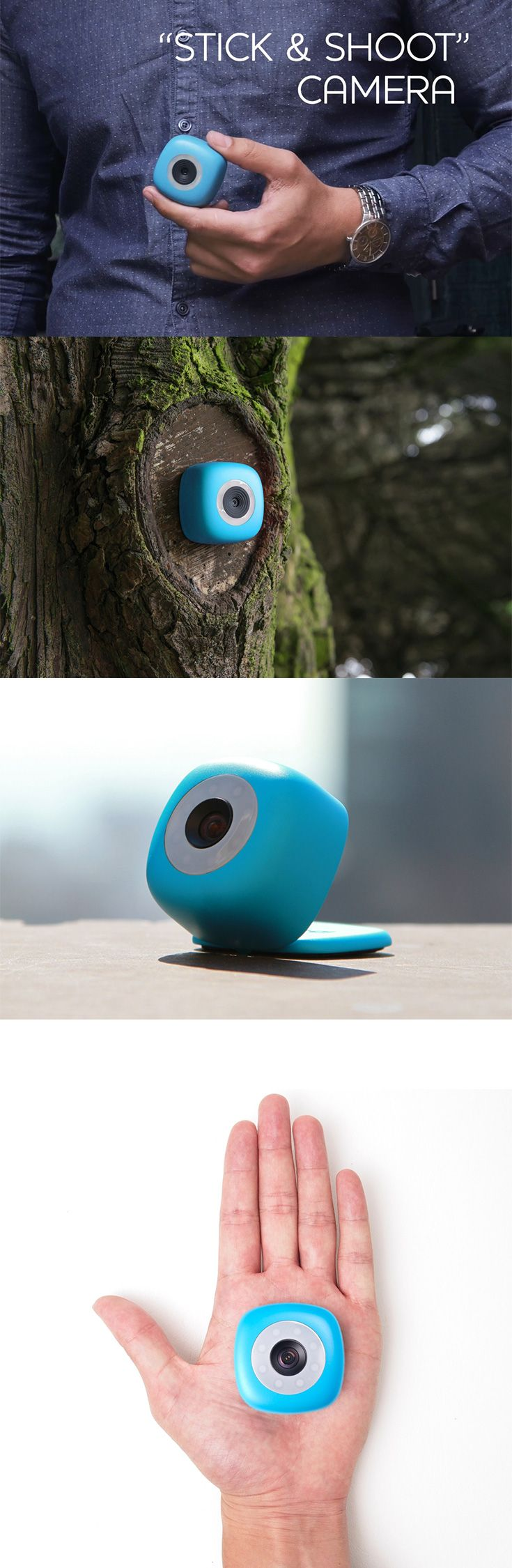 'Podo' ensures that your selfies will be absolutely hands free, so you can take pictures from meters away instead of the regular arm-length, it is a camera that  comes with a repositionable adhesive p