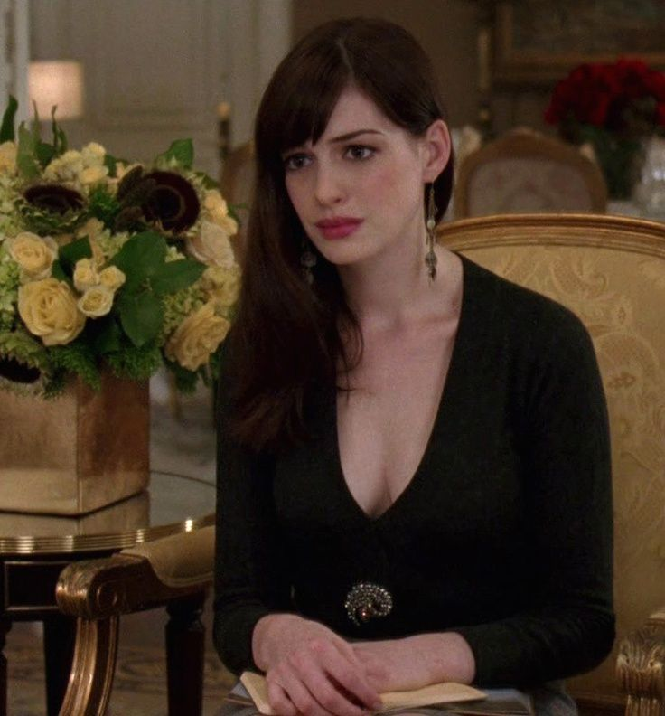 Anne Hathaway in The Devil Wears Prada, after transformation. Description from pinterest.com. I searched for this on bing.com/images