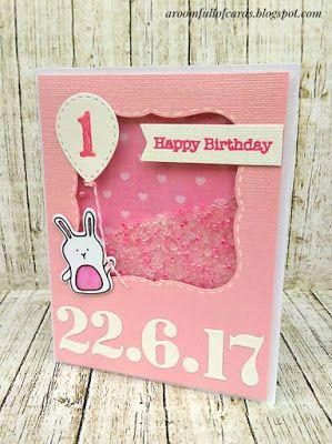 happy birthday my little bunny! Η πιο αγαπημένη μου shaker κάρτα για τα πρώτα γενέθλια μιας μικρούλας!