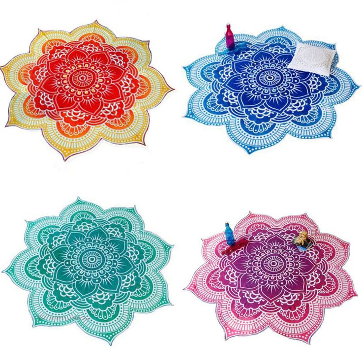 Encontrar Más Tapices Información acerca de Moda Diseño de La Flor de Loto Indio Boho Hippie Mandala Tapiz Tapiz Colcha Manta Estera de Yoga Toalla de Playa Tiro, alta calidad bordado de toallas de playa, China toallero con ganchos Proveedores, barato clip de toalla de playa de Jewelry In The Box en Aliexpress.com