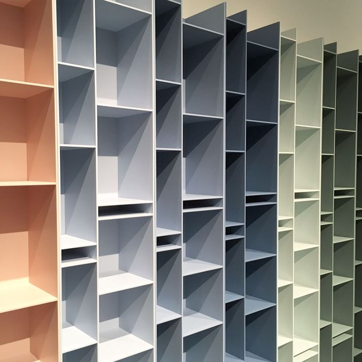 Spazio Materiae's look on the 2017 Design Week in Milan _ Mdf Italia new products have won us over as soon as we saw them: Random bookcases now add a touch of color to any minimal space. Our favorite are the many shades of blue and green what are yours? #random2c #randombookcase #mdfitalia #spaziomateriae