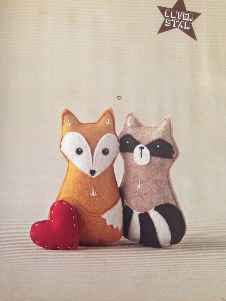 Fox and Raccoon Felties - From Mollie Makes Issue Twenty-Three
