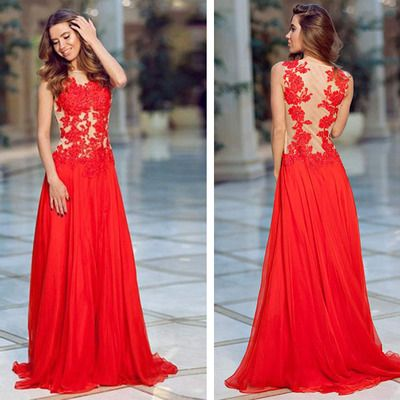 SeeThrough Prom Dresses, Red Prom Dresses, http://makerdress.storenvy.com/products/16330650-seethrough-prom-dresses-red-prom-dresses-red-prom-dress-lace-prom-dress