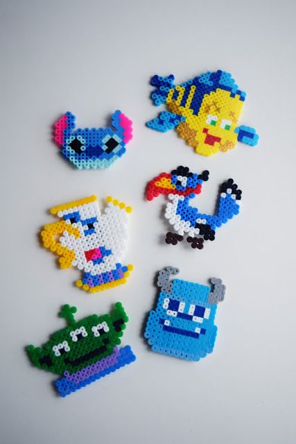 DIY Disney Perler Bead Character Magnets