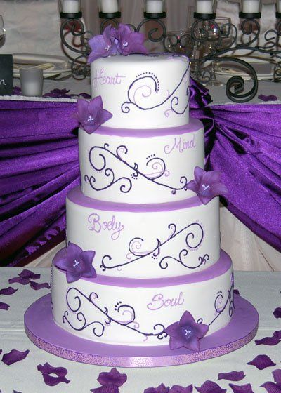 Wedding Cakes With Purple Accents