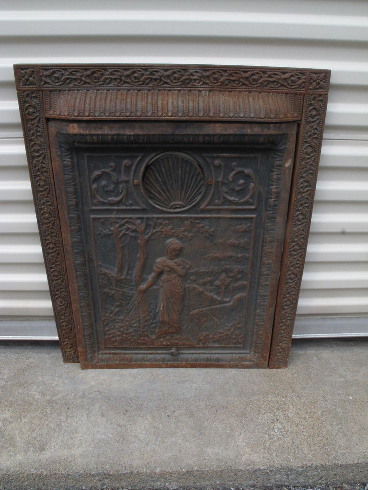 ANTIQUE ORNATE VICTORIAN CAST IRON FIREPLACE SURROUND SUMMER COVER INSERT 1800s in Antiques, Architectural & Garden, Fireplaces & Mantels | eBay