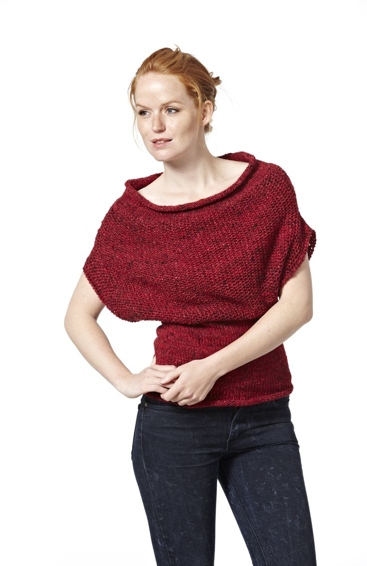 Midiværk - blouse. Knitted in Kabuto from Noro Yarns. The blouse can be worn upside down.
