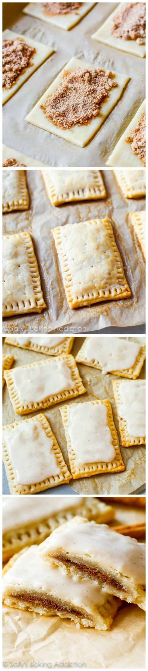 """Homemade Brown Sugar Cinnamon Pop-Tarts. None of the processed junk, 100% from scratch. The frosting """"sets"""" after an hour making them identical to the originals."""