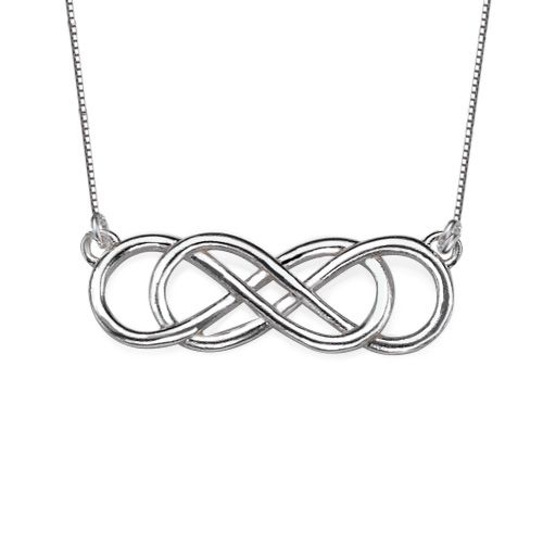 Double Infinity Necklace in Sterling Silver #revenge