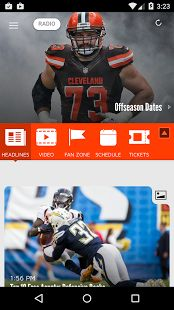 Welcome to the official mobile app of the Cleveland Browns.  Stay connected with the latest Browns news, stats, videos and podcasts.