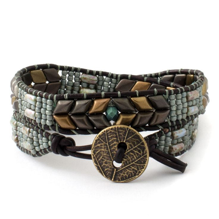 Leather Luxe Bracelet | Fusion Beads Inspiration Gallery