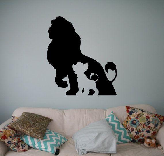 I re leone parete vinile Decal Disney cartoni animati Wall Sticker parete casa interni bambini bambini camera decorazione adesivi rimovibili 3(lk)