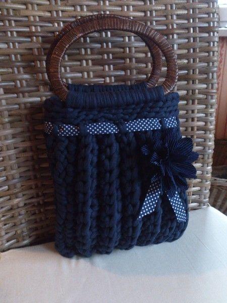 Handtasche - ZpagettiHandtasche Blau - ein Designerstück von wietske bei DaWanda