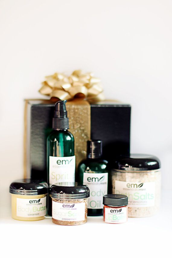 Spa Gift Set Bath and Body Gift Set Spa Gift by EssentiallyMint