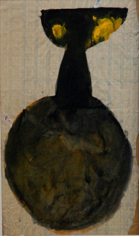 Lubomir Blecha, design for glass object, 1958-60, qouache on paper, M: 37,0 x 21,0 cm