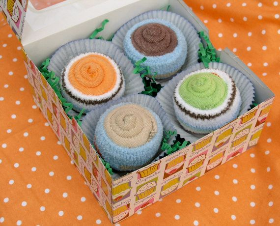 Boy's Baby Cupcakes 4 pack Baby Boy Gift Set by babyblossomco, $15.00 http://www.etsy.com/listing/87240078/boys-baby-cupcakes-4-pack-baby-boy-gift