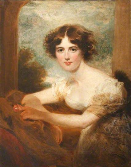 """Emily Calmady (1794–1855)"", early 19th C. by George Henry Harlow (British, 1787-1819)."
