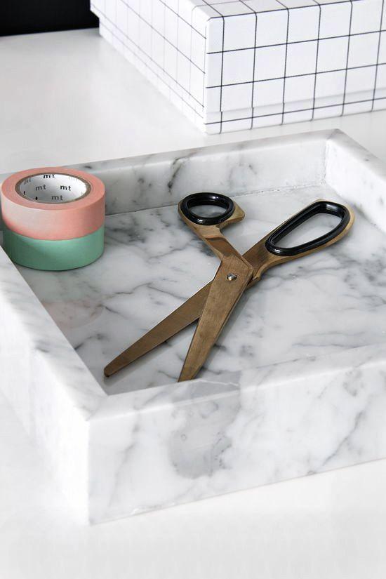 Via Stylizimo | Marbe and White | HAY Scissors and Box