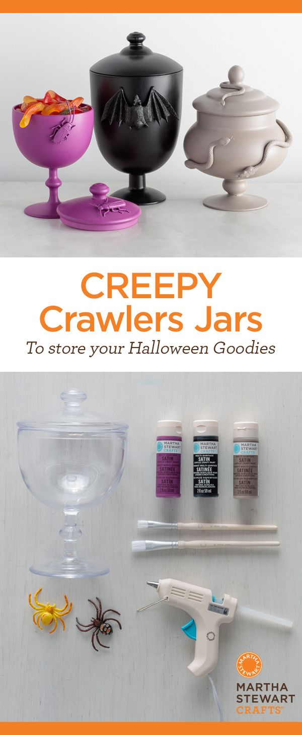 In love with these modern Halloween apothecary candy jars!