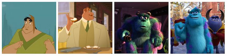 John Goodman – The Princess and the Frog and The Emperor's New Groove/Monsters, Inc. and Monsters University