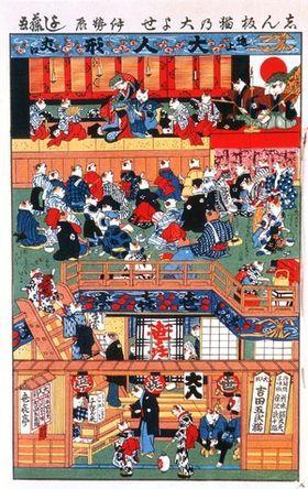 【浮世絵】江戸時代のネコ好きが描いた絵がかわいすぎて・・・【河鍋暁斎・歌川国芳ほか】※2/2更新 - NAVER まとめ