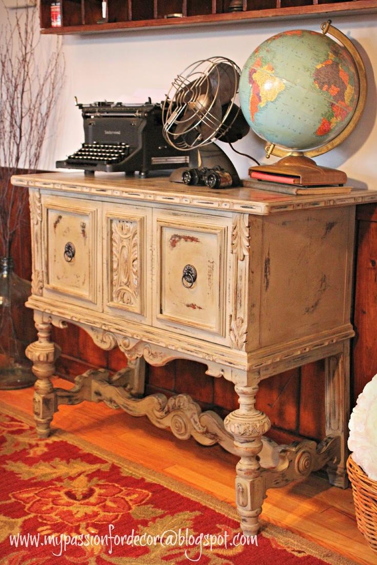 Annie Sloan Paris Grey China Cabinet