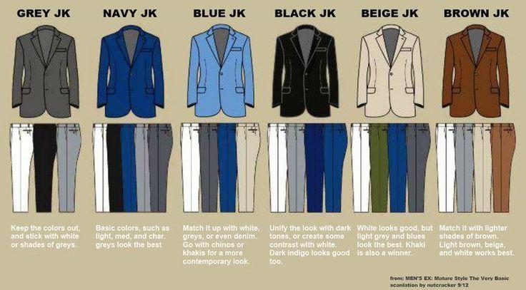 mens fashion match jacket pants