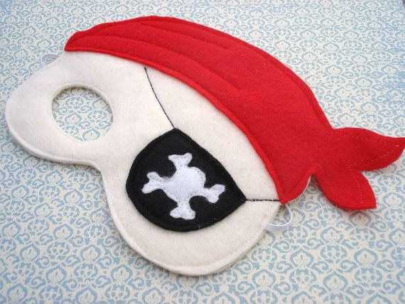 Child Pirate Mask by herflyinghorses on Etsy, $14.50