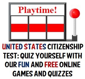 Free U.S. Citizenship Practice Tests - Interactive Online Quizzes. These are great for quizzing kids in Civics and Government. Do they know enough to be a U.S. citizen?