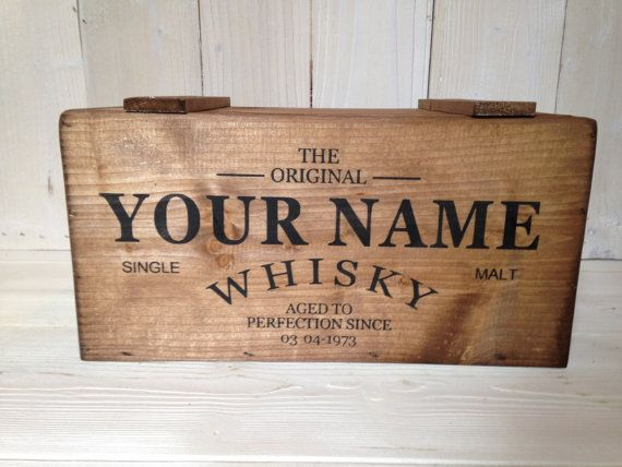 Personalised Whisky Wooden Crate Storage Box with by Crates4YouUK