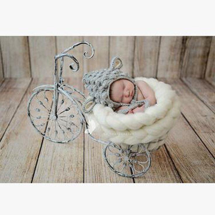 2016 ребенка шляпу летние дети новорожденный фотографии реквизит одежды мультфильм шляпа микки полиэстер шерсть костюм младенца животных 0 3 месяцев купить на AliExpress
