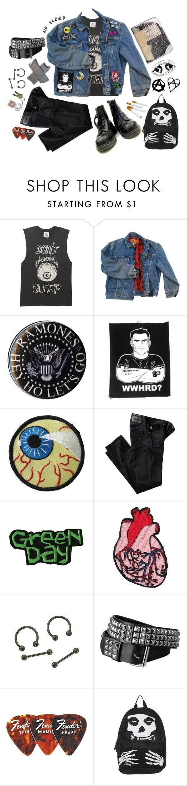 """full metal jackoff // jello biafra & D.O.A."" by trashpunk ❤ liked on Polyvore featuring Wrangler, Dakine, AG Adriano Goldschmied and Strange Days"