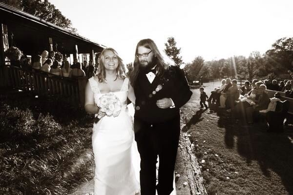 Chris Stapleton and wife Morgane on wedding day